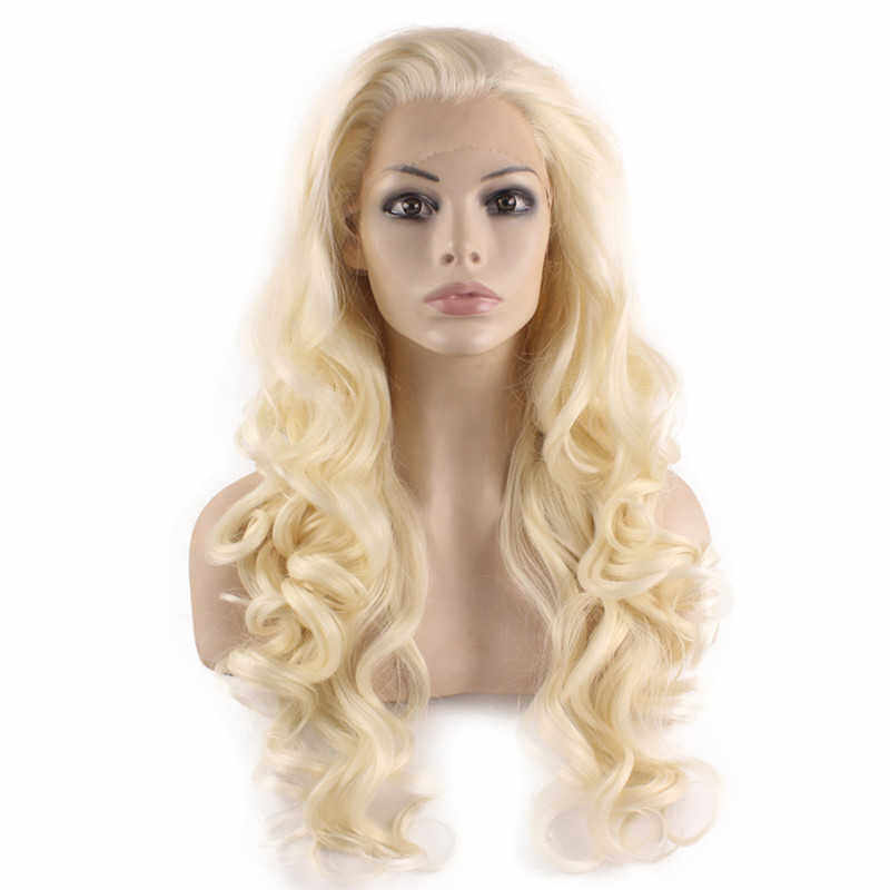 Light Blonde Wavy Curly Long Wig