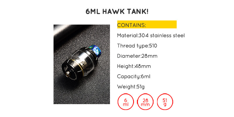 Wholesale Vapor Storm ECO Pro 80w TC Box Mod With Hawk Tank Starter Kit for 18650 battery
