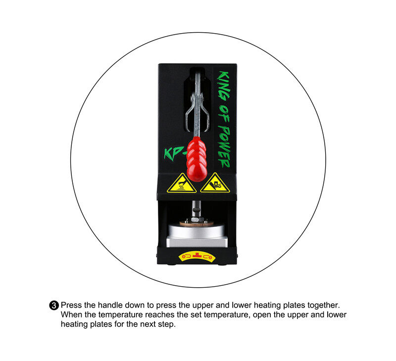 Small Manual Best Rosin Press KP 2 Rosin Heat Press By LTQ Vapor