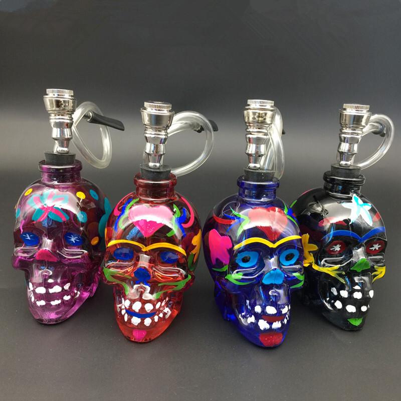 Popular Hookah pipe colourful skull mini Shisha Cheap Water Pipe