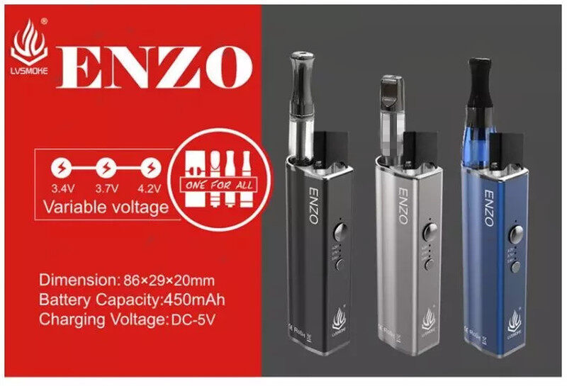 LVSmoke 4 in 1 Enzo mod vape box 450mAh variable voltage preheat battery