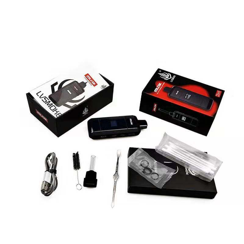 Authentic Lvsmoke musk Dry Herb Vaporizer Vape Kit