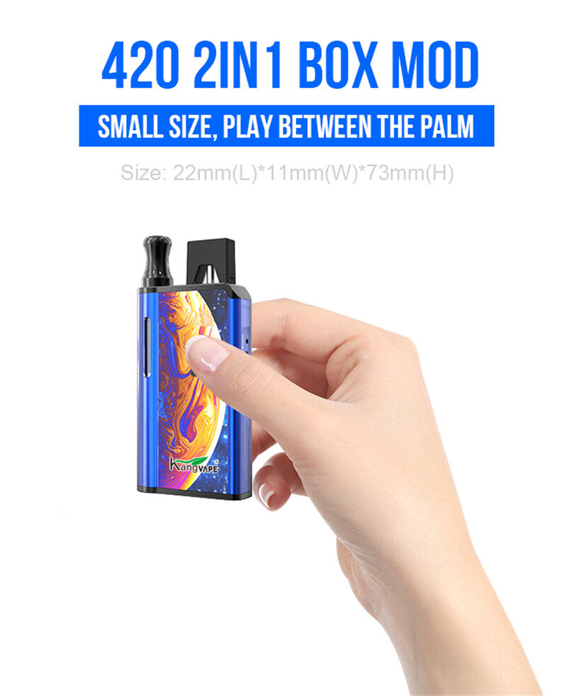 Kangvape 420 2in1 Mod Vape Box 650mAh battery for CBD Vape Cartridge and Juul Pod