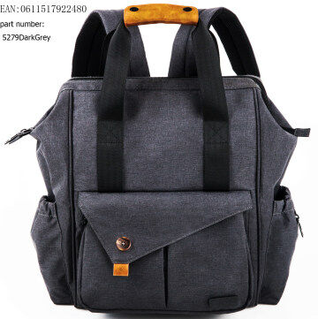 HapTim Multi-function Baby Diaper Bag Backpack - Nylon Fabric Waterproof for Moms & Dads(Dark Gray-5279)