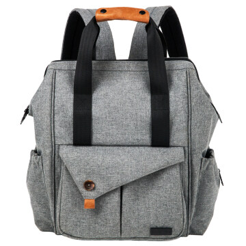HapTim Multi-function Baby Diaper Bag Backpack - Nylon Fabric Waterproof for Moms & Dads(Gray-5279) HapTim Multi-function Baby Diaper Bag Backpack with Stroller Straps, Gray HapTim Multi-function Baby Diaper Bag Backpack with Stroller Straps,Gray