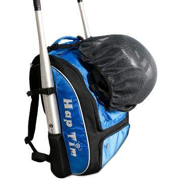 Baseball backpack, T-Ball & Softball Equipment & Gear for Kids, Youth, and Adults BLUE