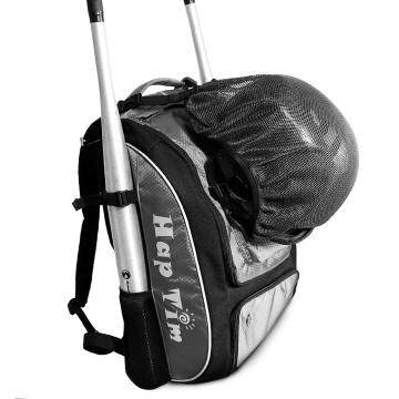 Baseball backpack, T-Ball & Softball Equipment & Gear for Kids, Youth, and Adults GREY