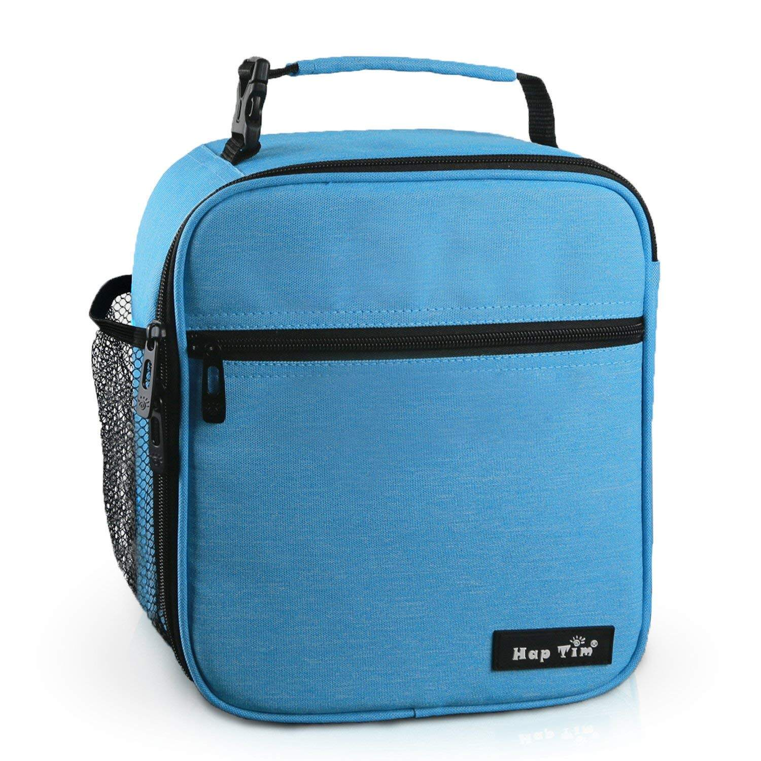 e0569fdac6a9 Hap Tim Insulated Lunch Bag for Men Women,Reusable Lunch Box for Kids  Boys,Spacious Lunchbox Adult (18654-BL)