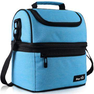 Hap Tim Lunch Box Insulated Lunch Bag Large Cooler Tote Bag (16040-BL)