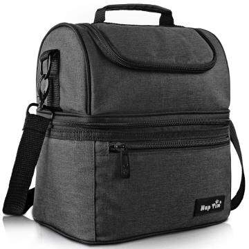 Hap Tim Lunch Box Insulated Lunch Bag Large Cooler Tote Bag (16040-DG)