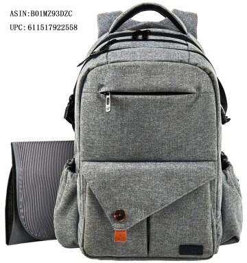 HapTim Multi-function Large Baby Diaper Bag Backpack-Stylish & Durable with Anti-Water Material(Gray-5284)