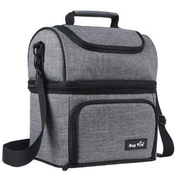 Hap Tim Insulated Lunch Bag Upgraded Lunch Box for Men, Women,Adult,Kids Dual Compartment Large Lunch Tote Bag for Office/Picnic/Travel/Camping/Work/School (N16040-G)