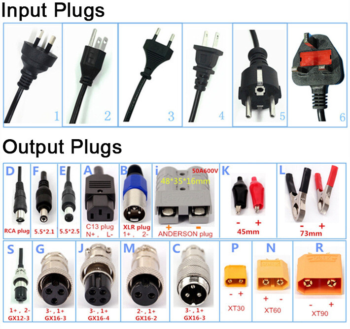 24V 5A Automatic Battery Charger Trickle Charger Battery Maintainer with 3-Pin XLR Connector for Scooter Wheelchair Car Motorcycle eBike Lawn Mower Marine Boat