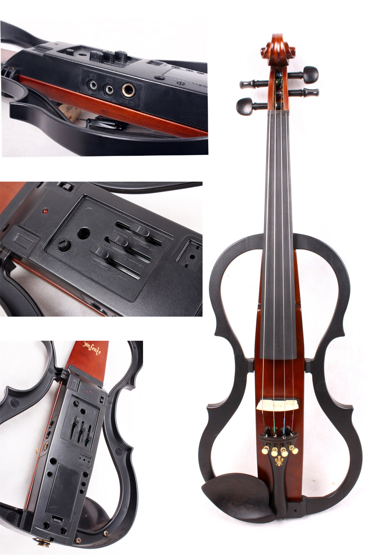 Yinfente 4/4 electric violin Copy Yamaha Pickup Advance Professional Level  Solid wood Free Violin case bow Full size