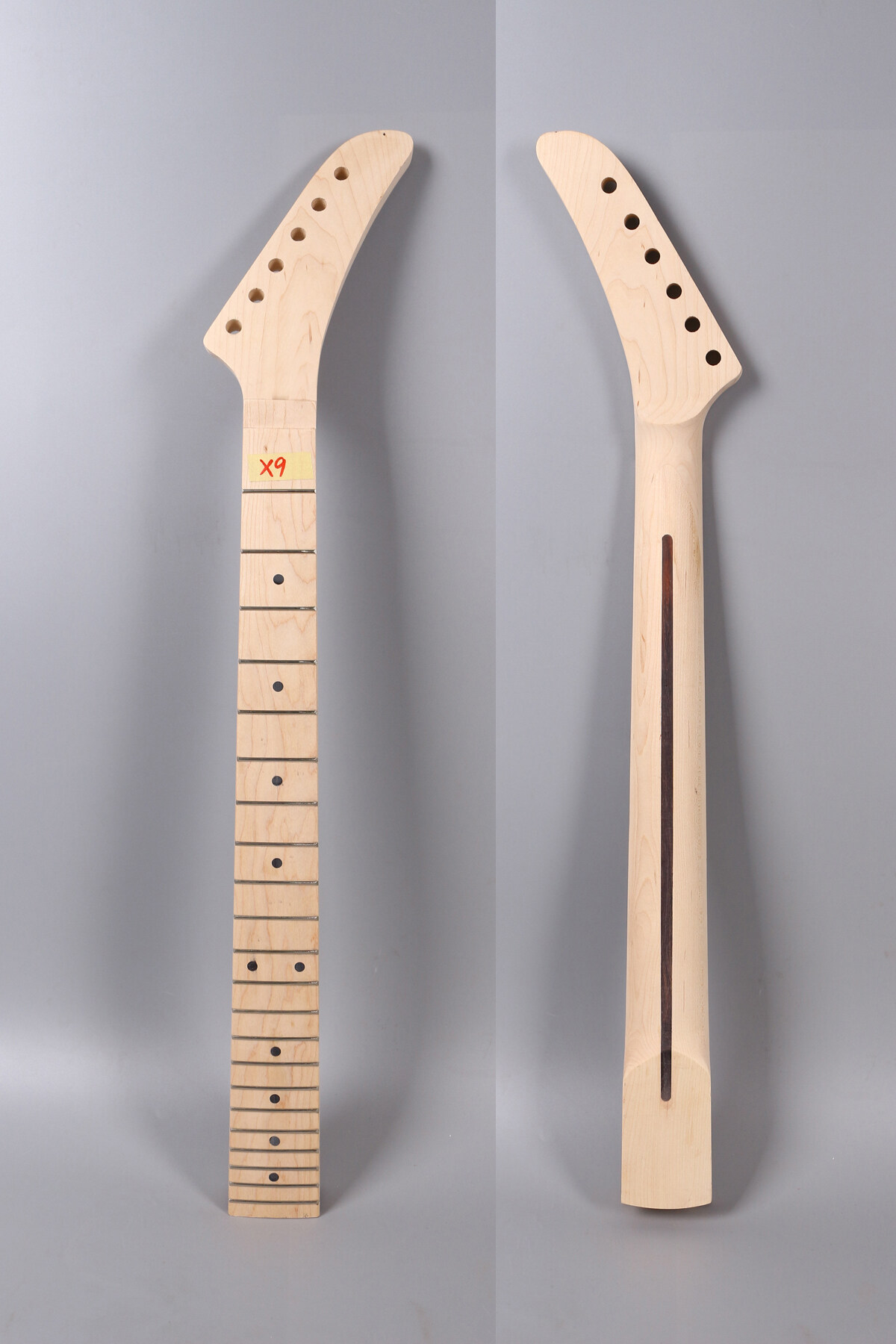 Unfinished Maple Guitar Neck 22 Fret 25.5inch Electric Guitar Project Men's Shoes