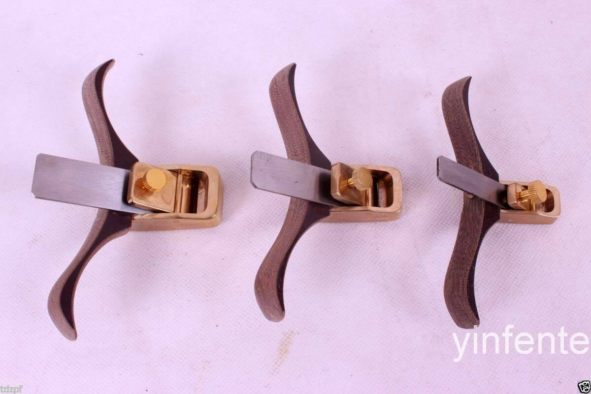 3pcs Planes Woodworking Tools Brass Body luthier Tools Violin maker Steel Blade