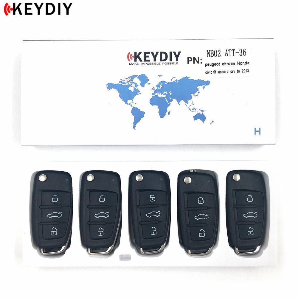5X KEYDIY Universal Remotes NB-Series NB07-ETT-GM for KD900 KD900+
