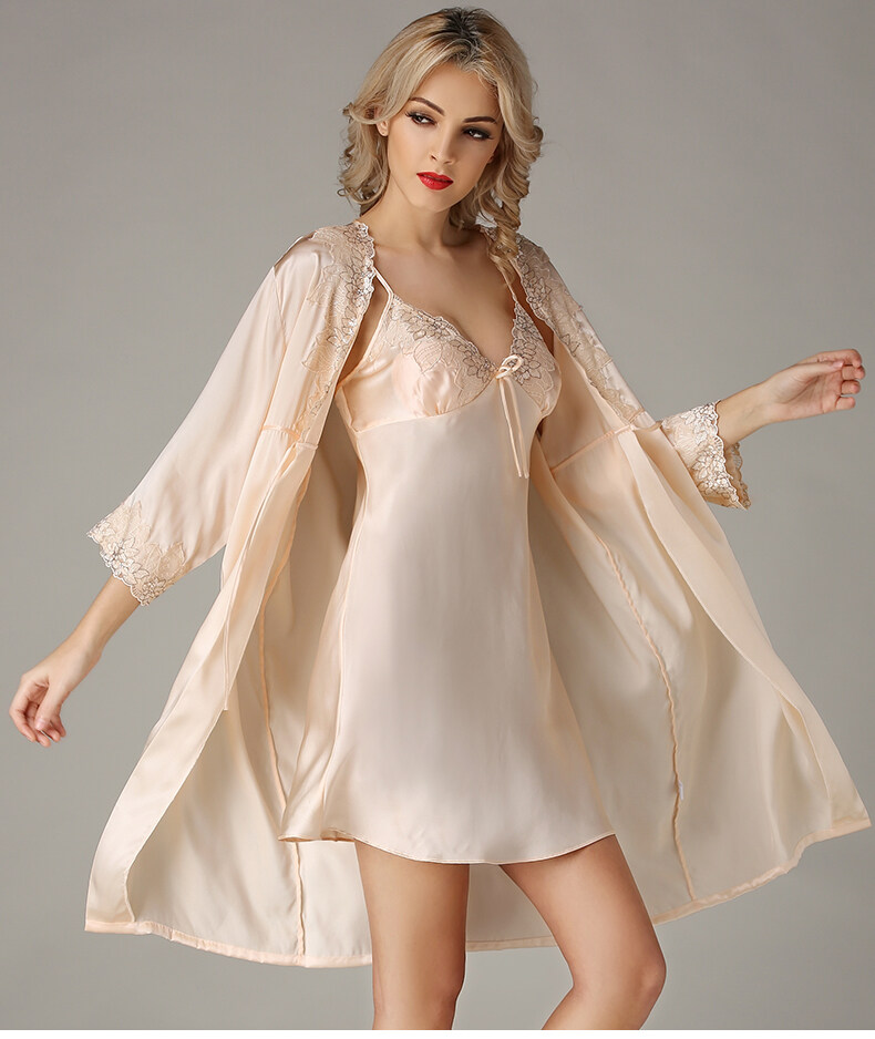 Silk condole belt sleeps skirt sexy pyjamas female to allure lei silk robe 	S841 0