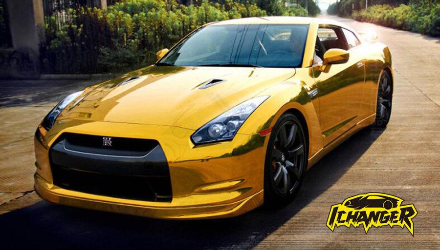 Gold Chrome Car Wrap Vinyl Film