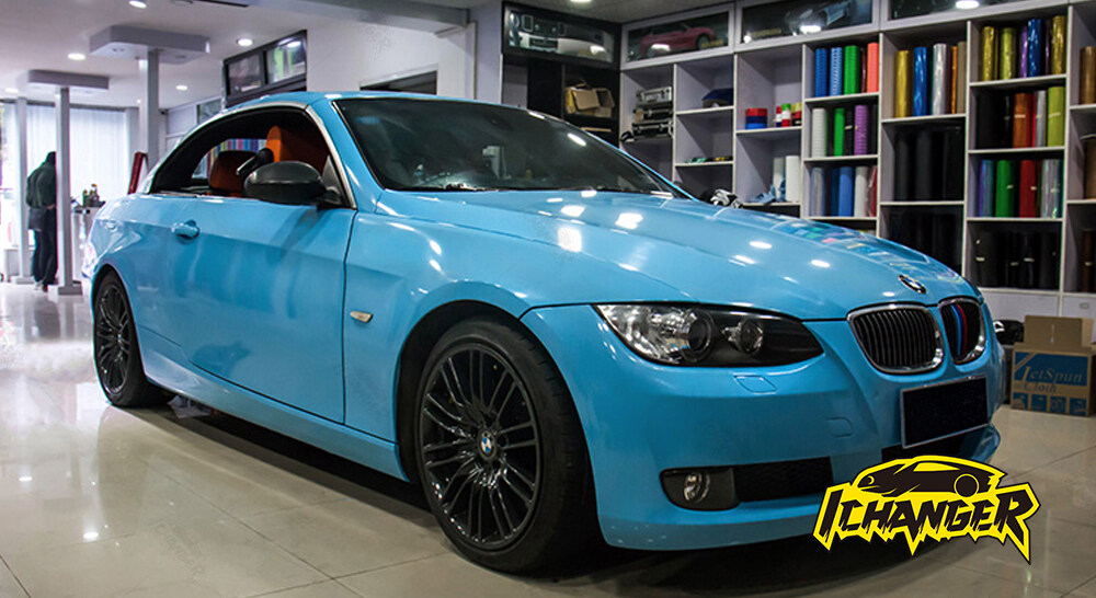 Gloss Sky Blue Car Wrap Vinyl Film