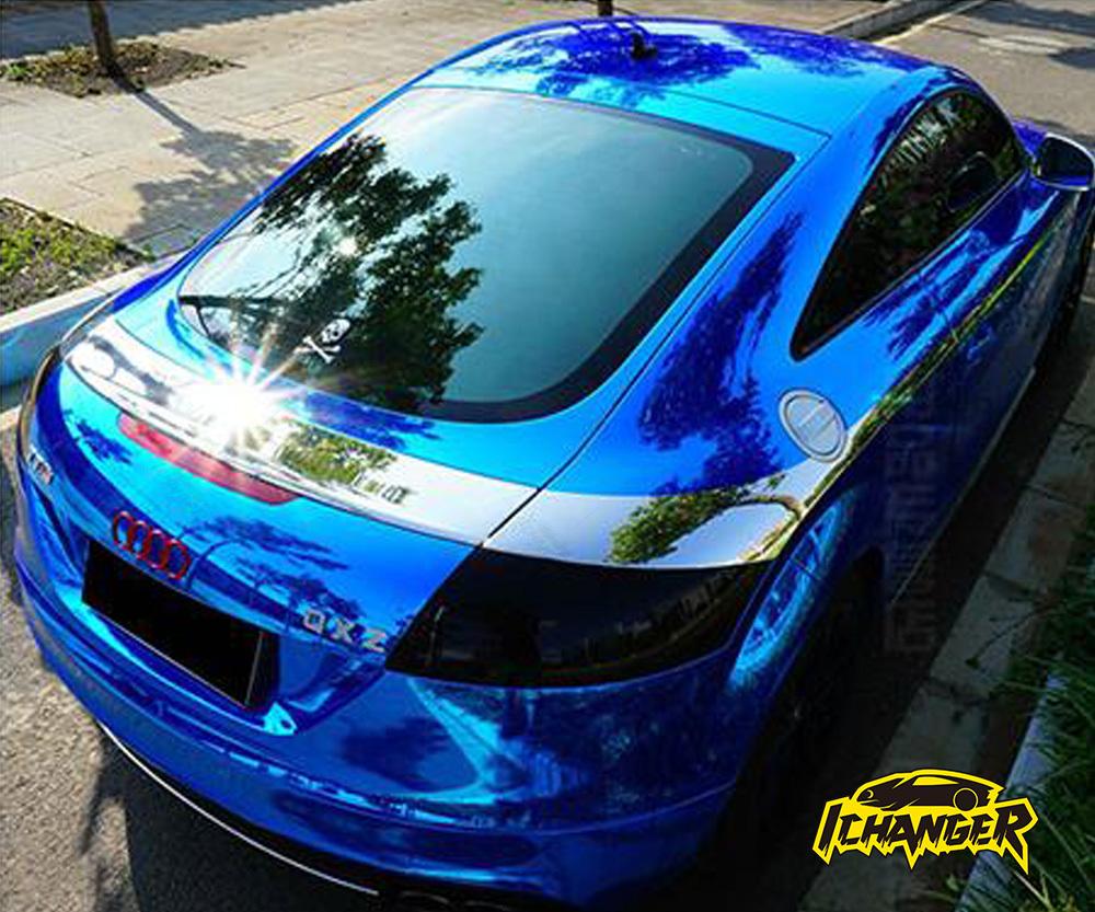 Blue Chrome Car Wrap Vinyl Film