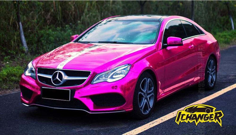 pink chrome car wrap vinyl film