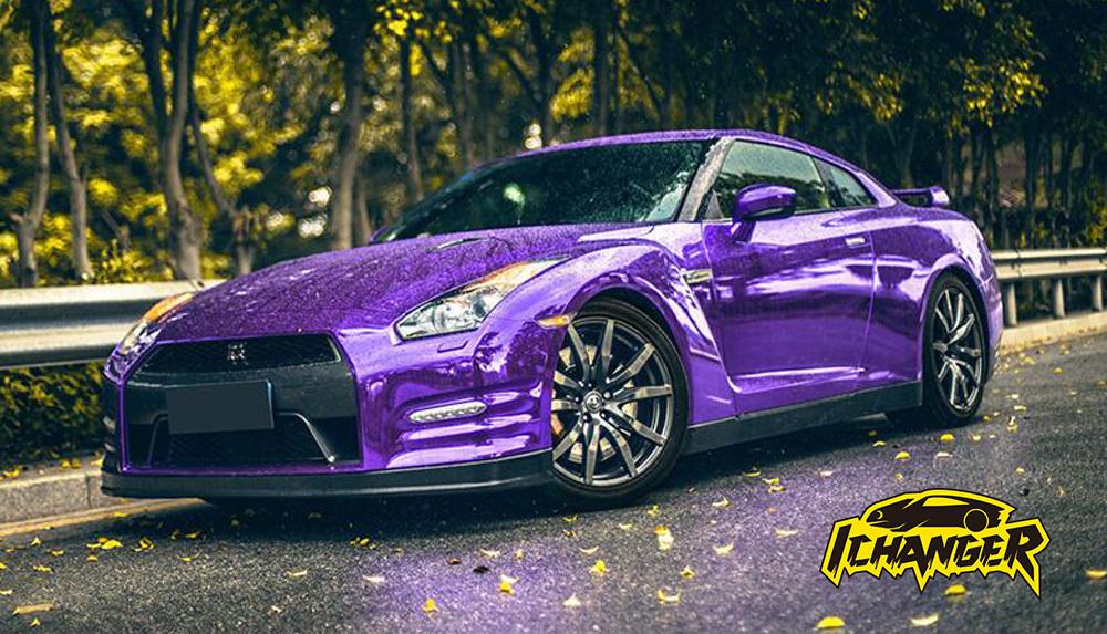 Purple Chrome Car Wrap Vinyl Film