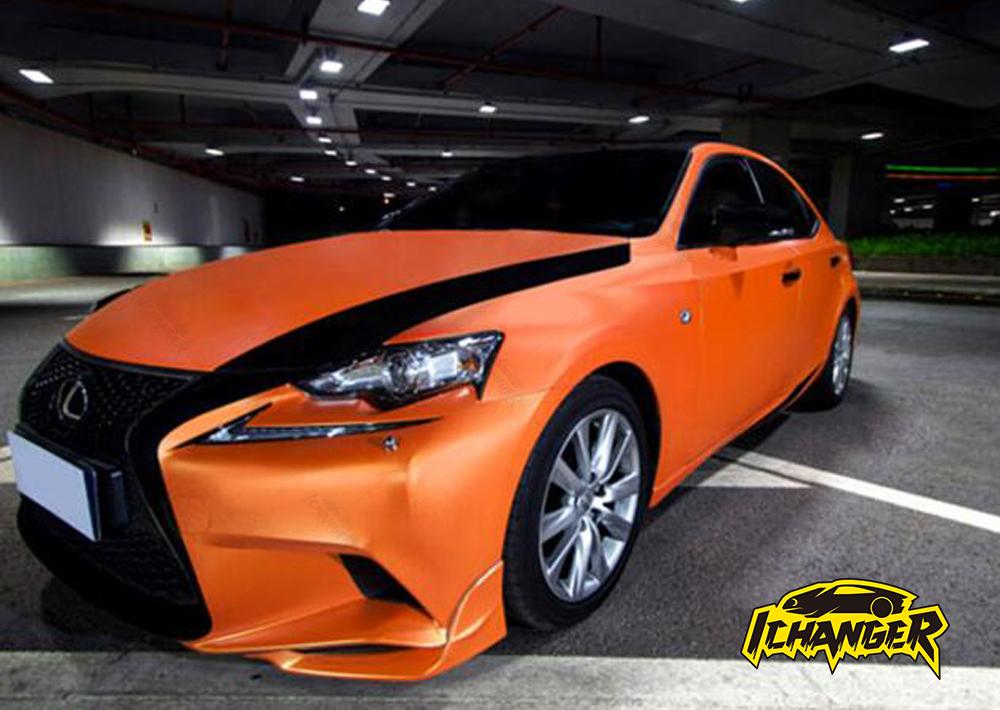 Satin Chrome Orange Car Wrap Vinyl Film