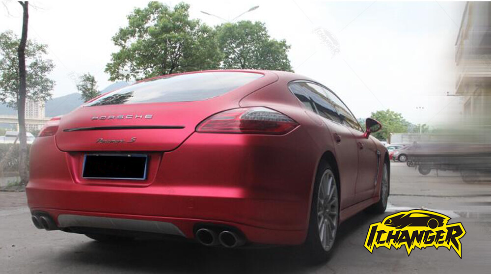 Satin Chrome Red Car Wrap Vinyl Film