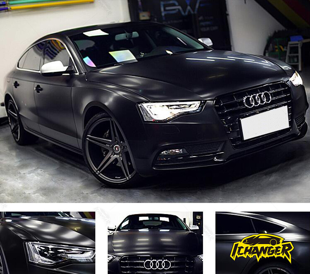 Metallic Black Car Wrap
