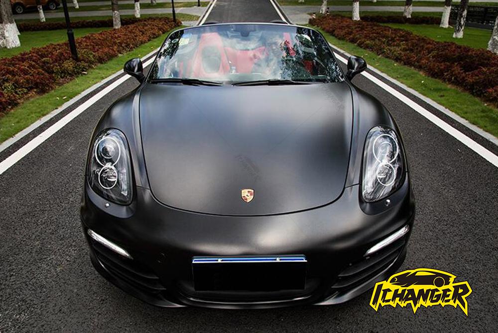 Metallic Black Car Wrap
