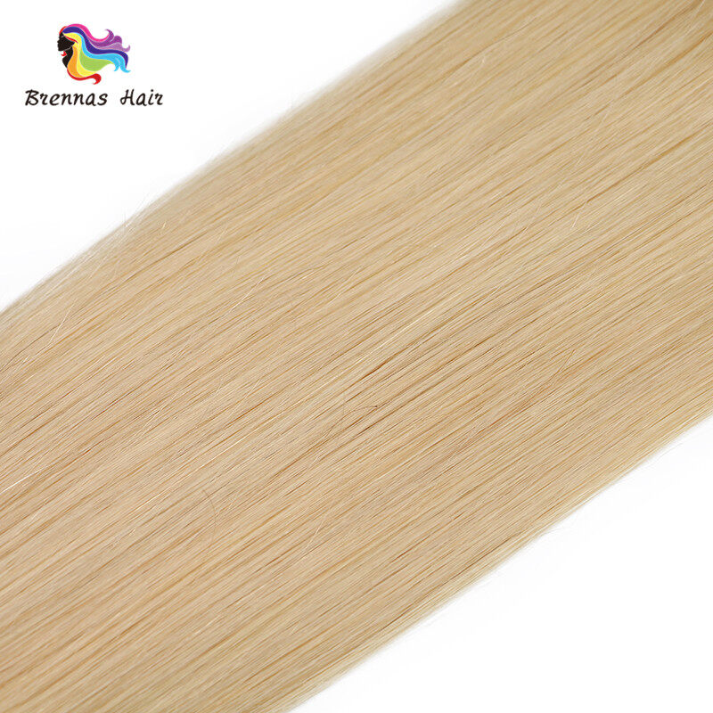 Sliky Straight Human Virgin Hair Bundles Blonde Color 1b 613 Hair Weaves Double Wefts