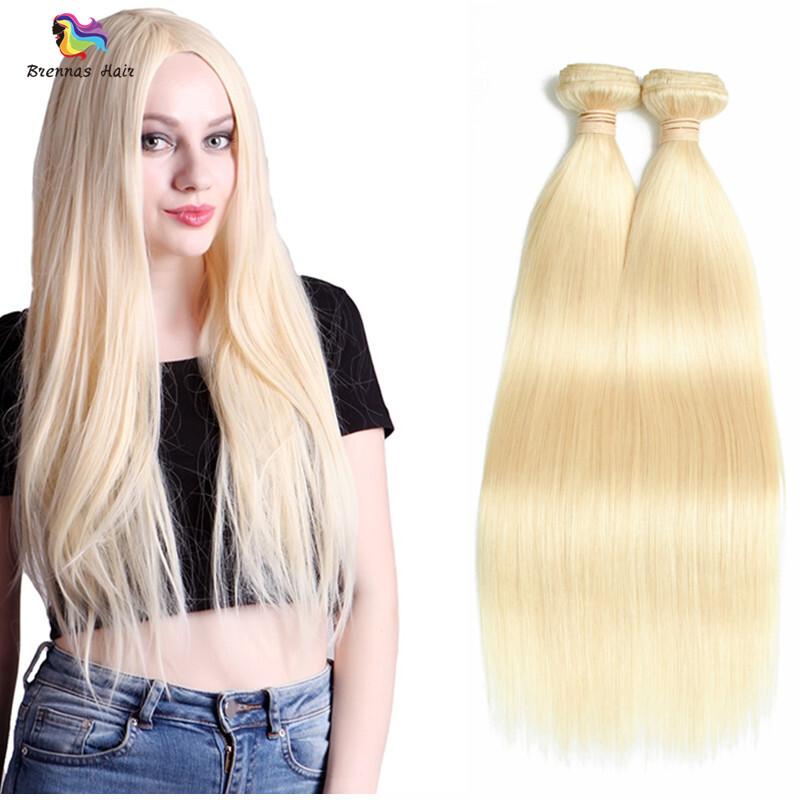 Brazilian Straight Human Virgin Hair Bundles Blonde Color 613 Hair