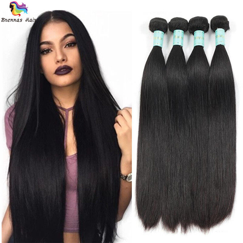 Brazilian Sliky Straight Hair Bundles 3pcs 8 26inch Natural