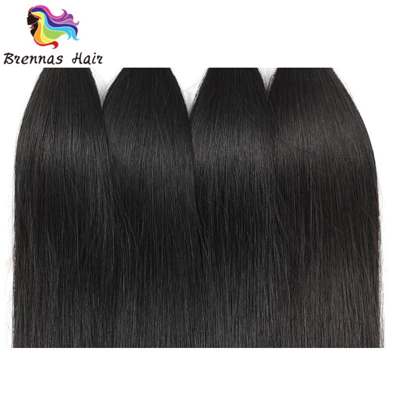 Brazilian Sliky Straight Hair Bundles 3pcs 8 26inch Natural Black