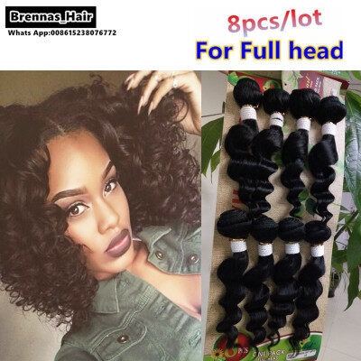 Best virgin hair 8pcs human hair for sale at brennashair 8pcslot human hair wefts natural ombre color unprocessed brazilian peruvian hair extensions for black pmusecretfo Choice Image