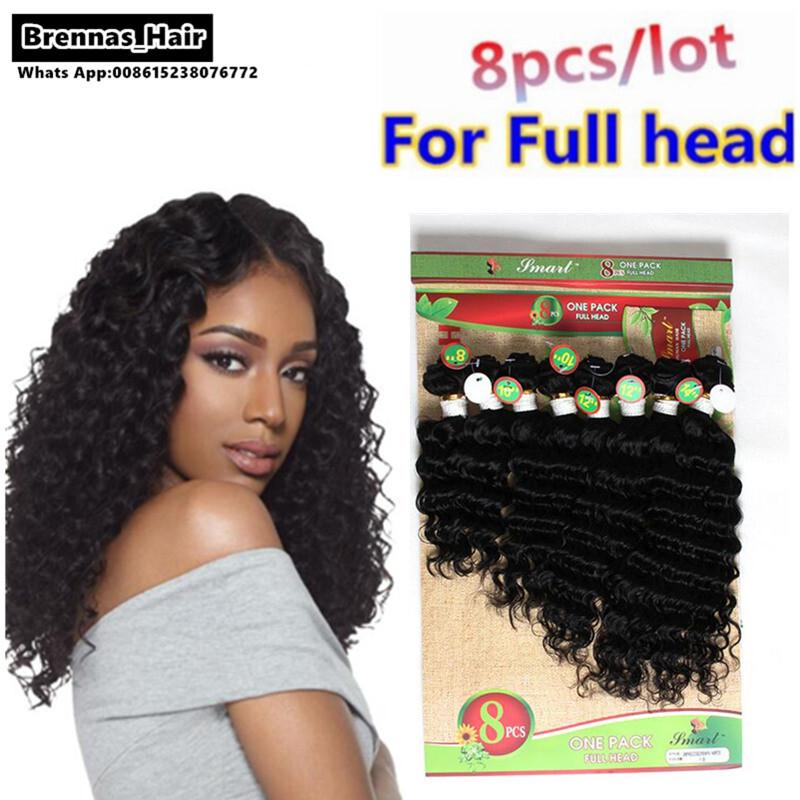8 Pcslot For Full Head Brazilian Hair Extension Curly Virgin Hair 8