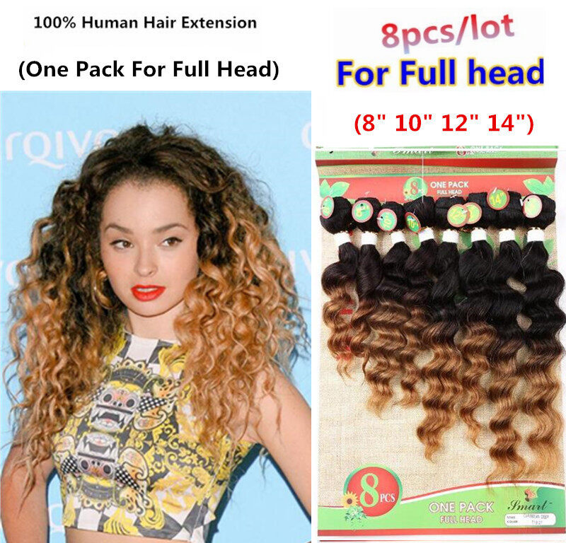 8 Pcslot For Full Head Brazilian Hair Extension Curly Virgin Hair 8