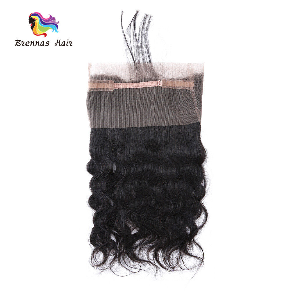 Brazilian Body Wave 360 Degree Lace Closure Natural Color