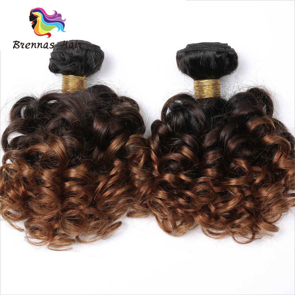 100 Human Virgin Hair Bouncy Curly 1b 30 Hair Bundles