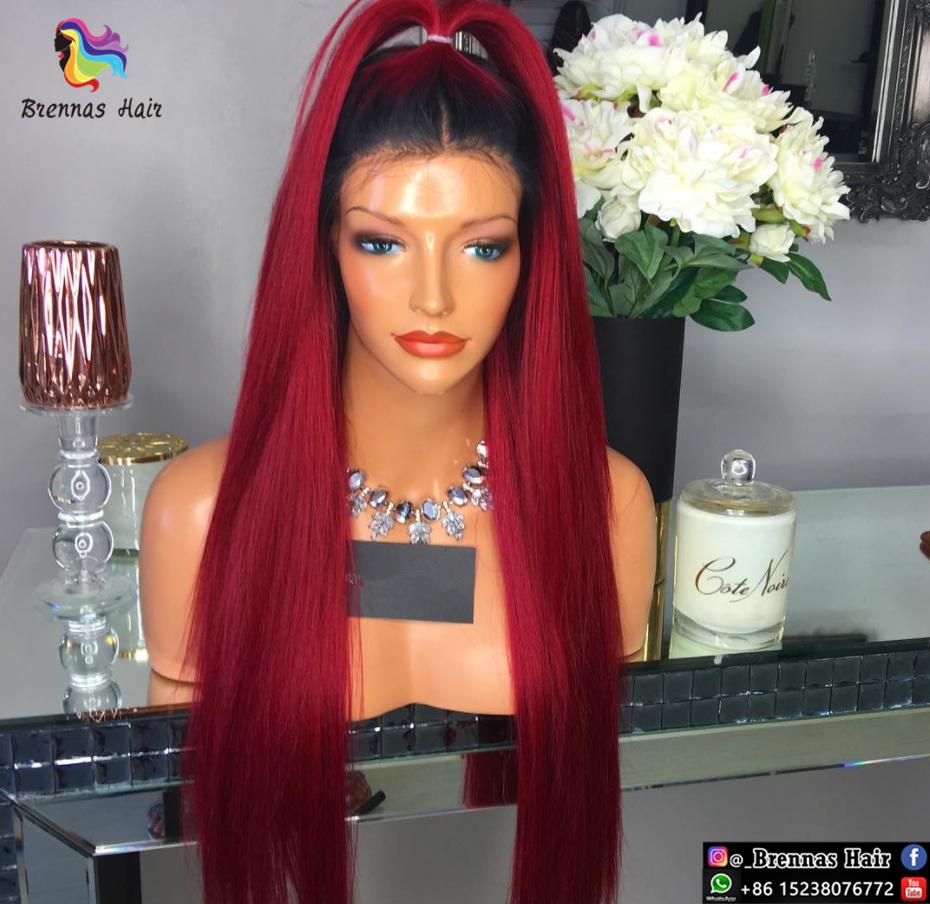 Lace Front Wig Glueless 100 Human Virgin Hair 1b Bug