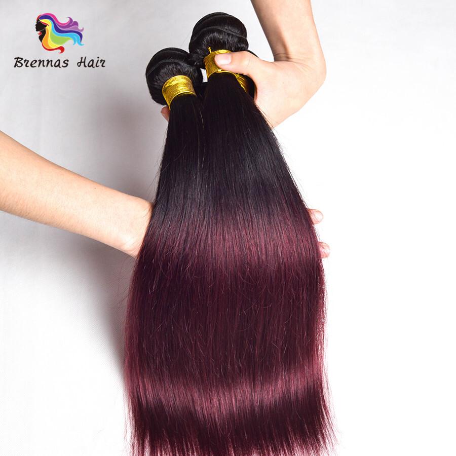 brazilian ombre color 1b 99j straight hair bundles 1pcs 8