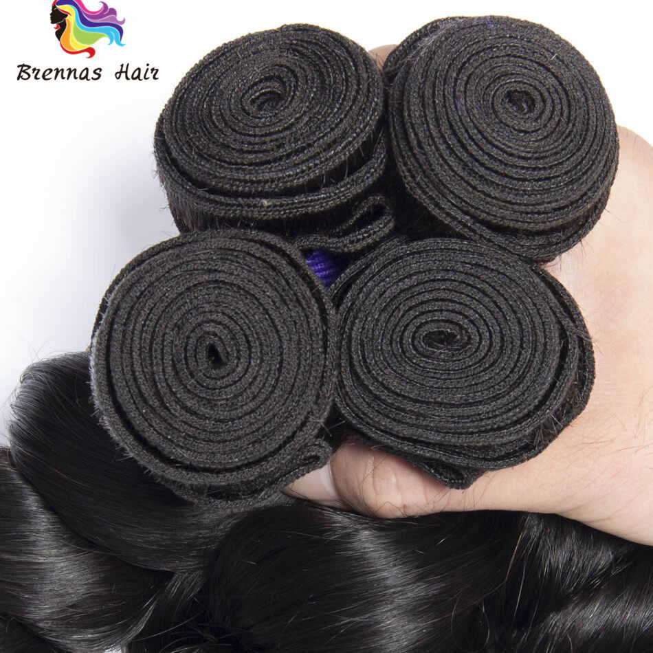 Loose Wave Hair weaves 3bundles 8-26inch Natural black Full Thick Tangle Free  Hair Extensions 3