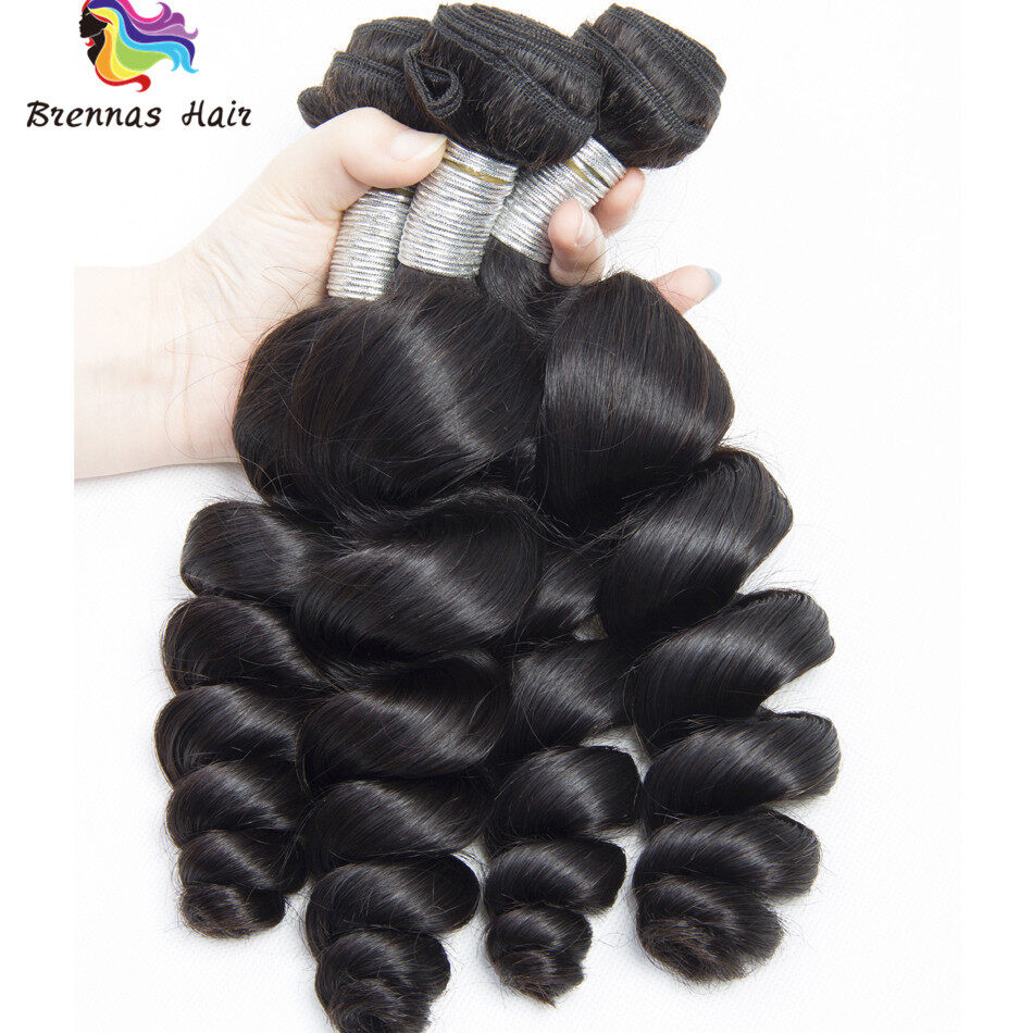 Loose Wave Hair weaves 3bundles 8-26inch Natural black Full Thick Tangle Free  Hair Extensions 2