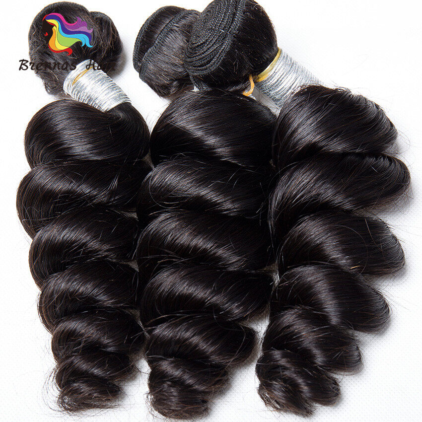 Loose Wave Hair weaves 3bundles 8-26inch Natural black Full Thick Tangle Free  Hair Extensions 1