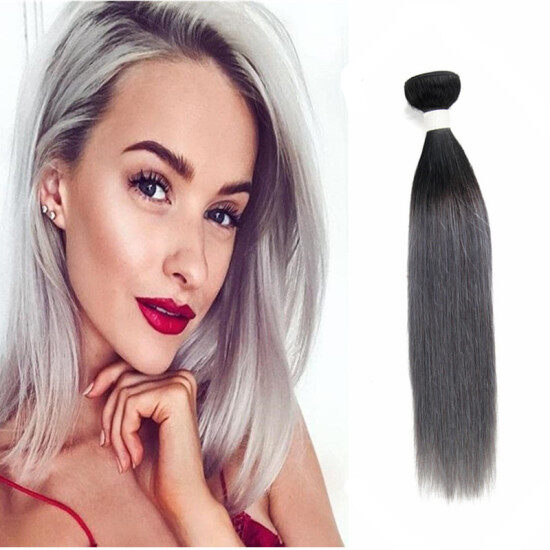 1bgrey ombre remy human hair extensions straight hair 3 bundle sliky straight hair 3 bundle 1bgrey ombre remy human hair extensions gray color ombre pmusecretfo Gallery
