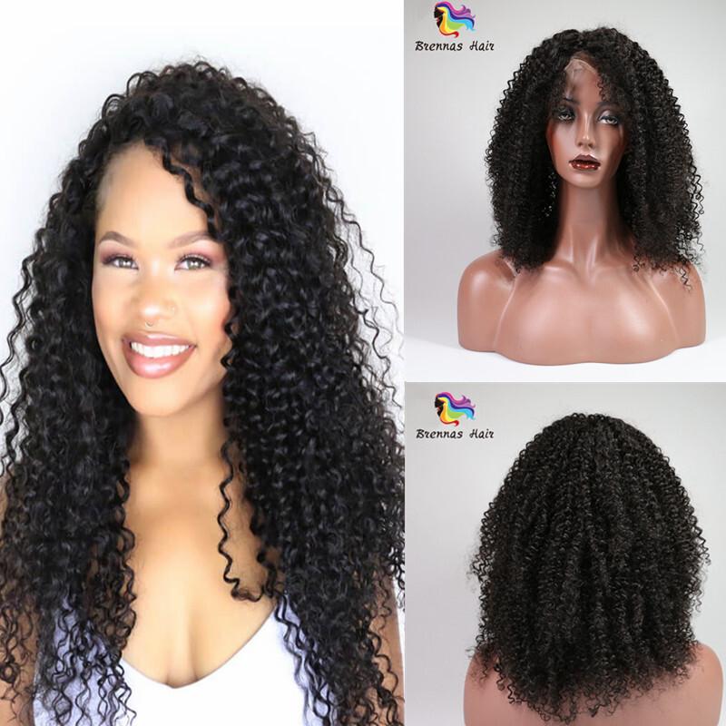 Brazilian human virgin hair Kinky curly lace Human Hair Wigs for ...
