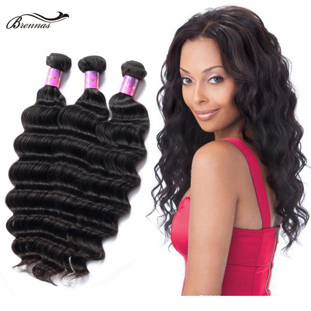 Brennas 100% Human Virgin Loose Wave Hair Bundles for Black Women 100g/pack Natural Color  0