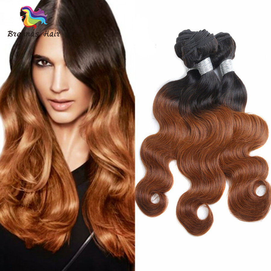 Body Wave Hair Bundles ombre color #1b/30 Brazilian Peruvian Malaysian 100% Virgin Hair Can Be Dyed and Bleached 0