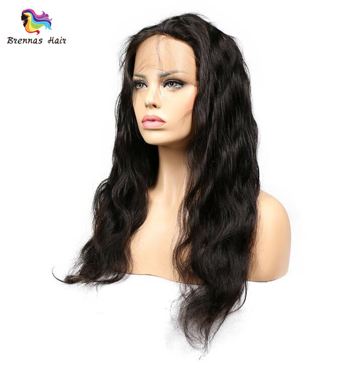 Brazilian body wave hair 3bundles with 360 lace frontal closure with baby hair For Black Women Brazilian virgin Hair 3